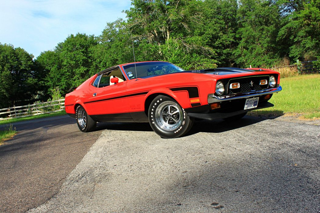 1971 Ford Mustang Boss 351s cars wallpaper