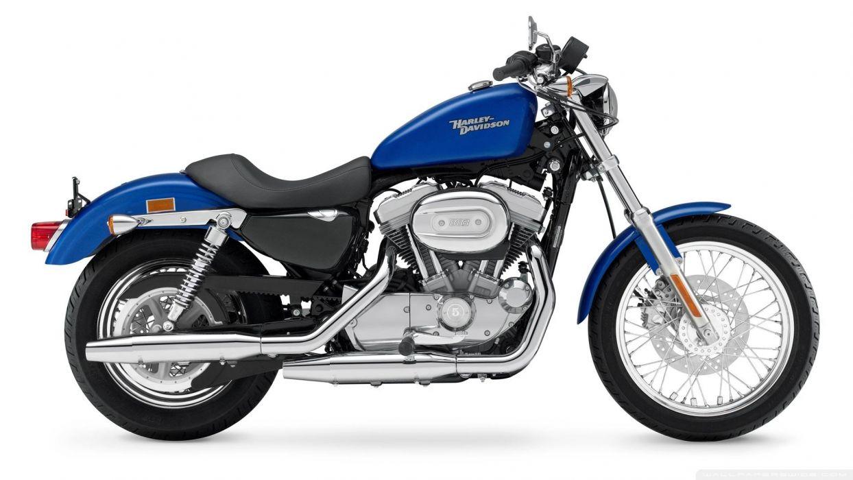 harley davidson moto azul amricana wallpaper