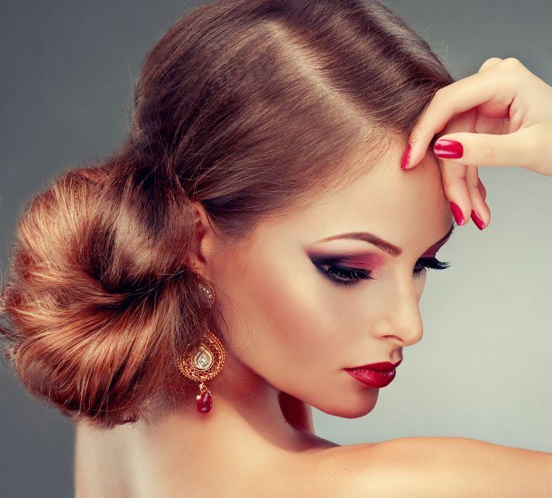 beautiful girl female women woman sexy babe model redhead face n wallpaper