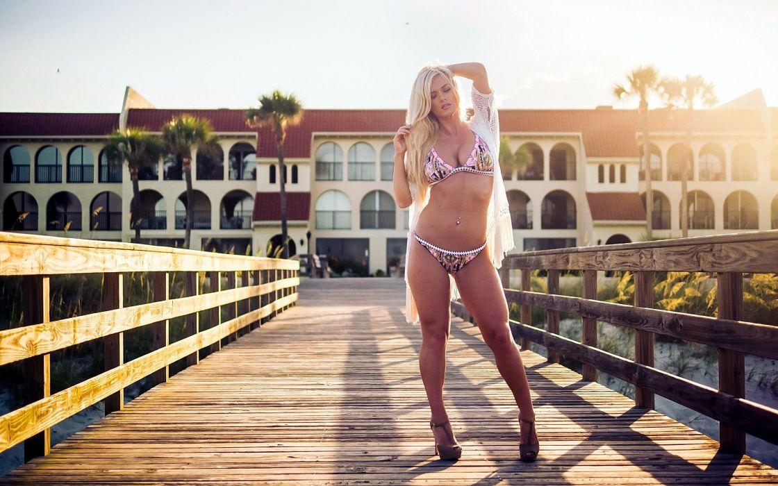 beautiful girl female women woman sexy babe model adult blonde bikini n wallpaper