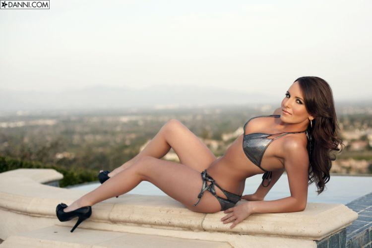beautiful girl female women woman sexy babe model adult brunette bikini f wallpaper