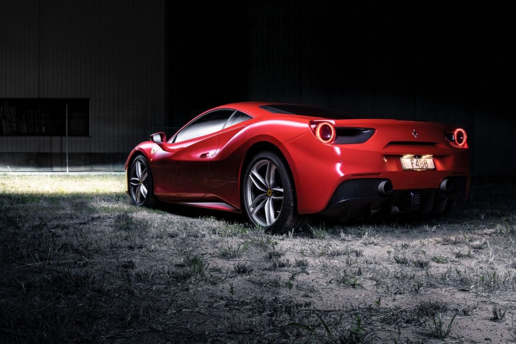 Ferrari 488 GTB AU-spec cars red 2015 wallpaper