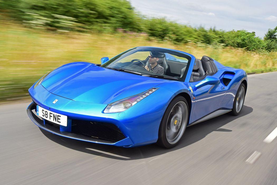 Ferrari 488 Spider UK-spec cars blue 2016 wallpaper