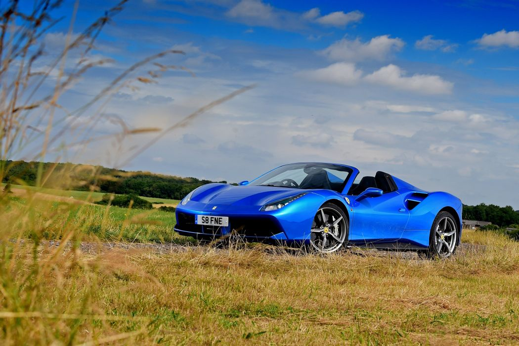 Ferrari 488 Spider UK-spec cars blue 2016 wallpaper