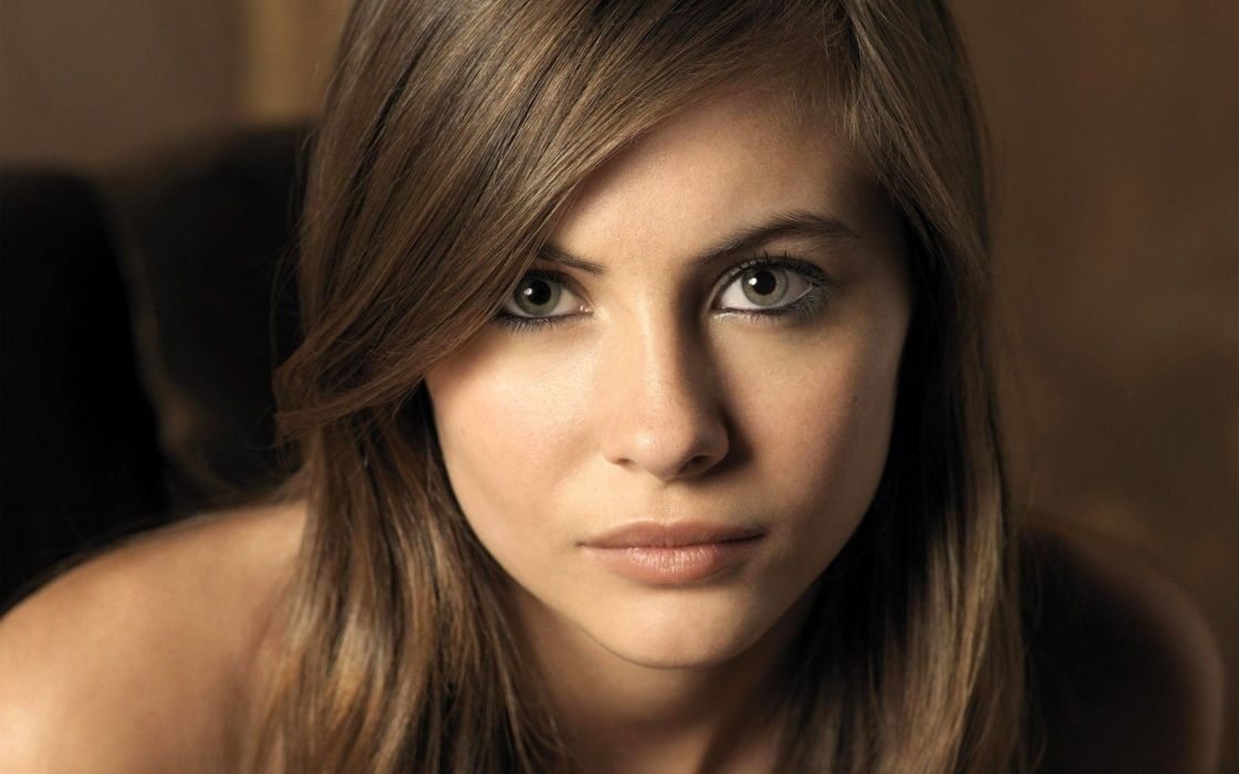 beautiful girl female women woman sexy babe model adult brunette face f wallpaper