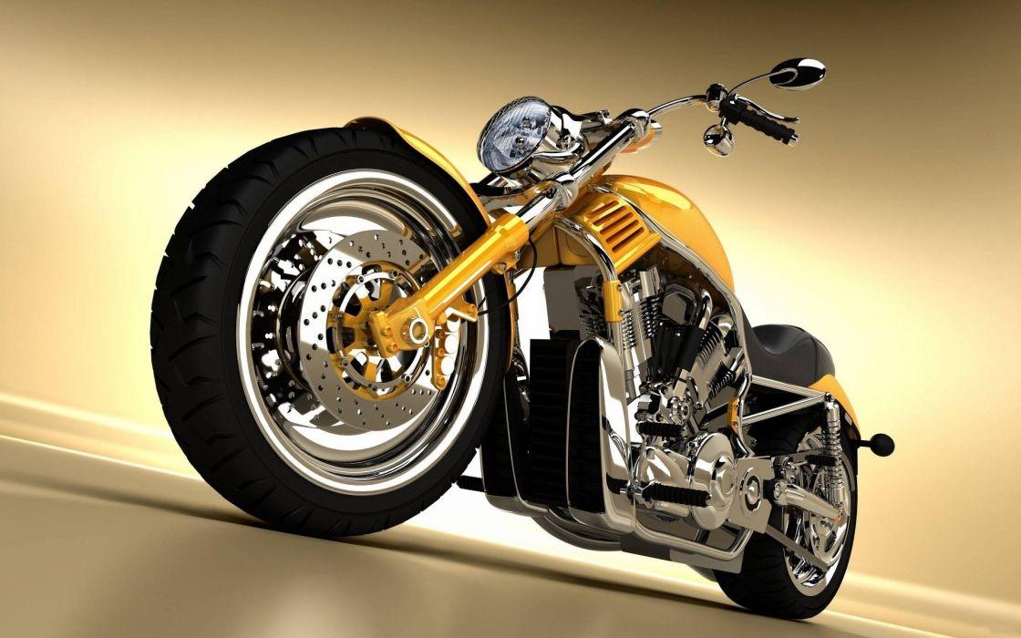 Harley Davidson 1880 amarilla wallpaper