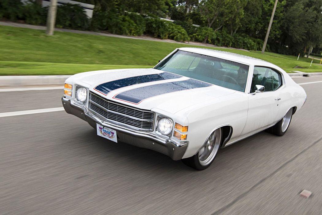 1971 Chevrolet Chevelle muscle classic hot rod rods hotrod custom wallpaper