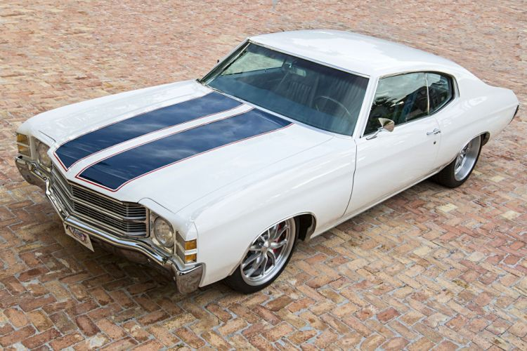 1971 Chevrolet Chevelle muscle classic hot rod rods hotrod custom wallpaper
