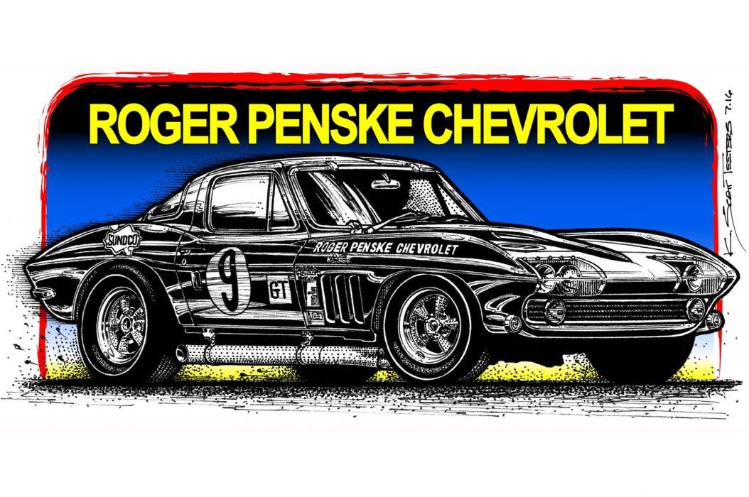 1966 427 Corvette Racer muscle classic hot rod rods hotrod custom chevy chevrolet wallpaper