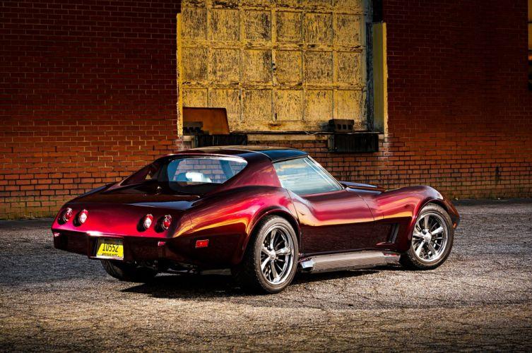 1976 Corvette muscle classic hot rod rods hotrod custom chevy chevrolet supercar wallpaper