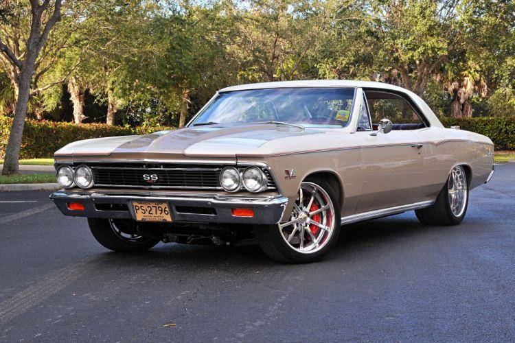 1966 Chevrolet Chevelle muscle classic hot rod rods hotrod custom chevy chevrolet wallpaper