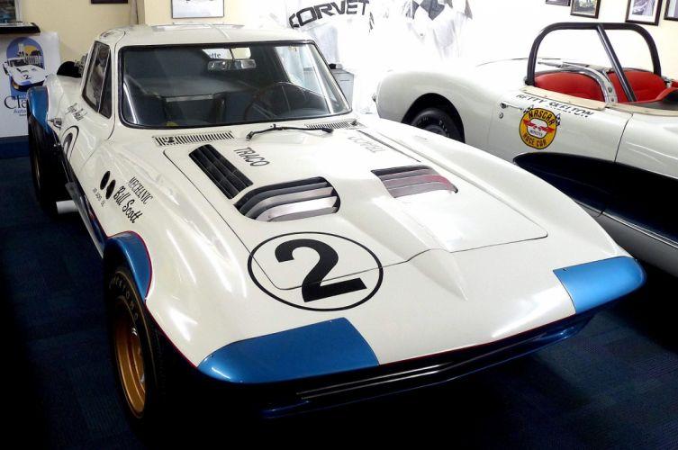 1962 Corvette Grand Sport muscle classic hot rod rods hotrod custom chevy chevrolet race racing lemans le-mans wallpaper