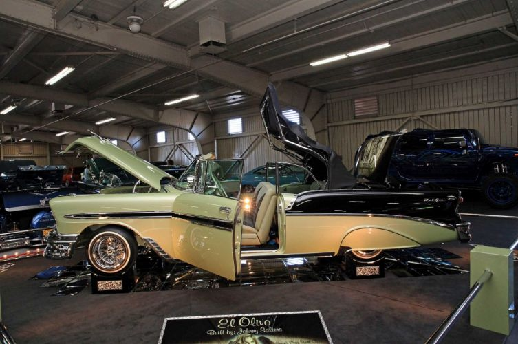 1956 CHEVY BEL AIR CONVERTIBLE lowrider tuning custom hot rod rods hotrod chevrolet wallpaper