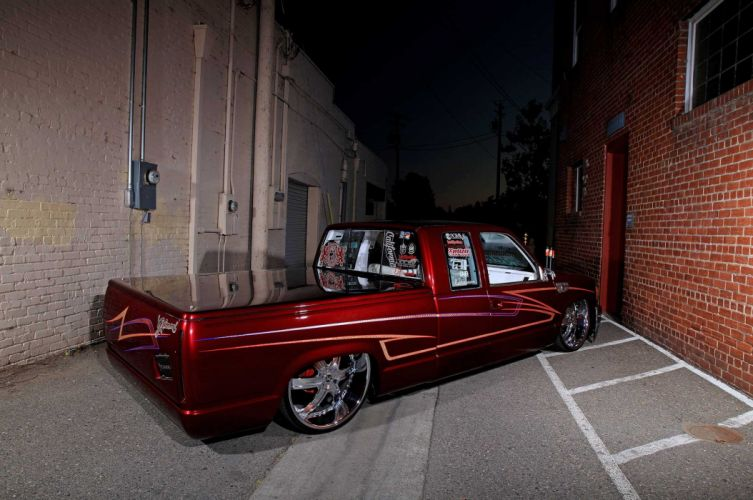 1984 gmc sierra pickup truck lowrider tuning custom hot rod rods hotrod wallpaper
