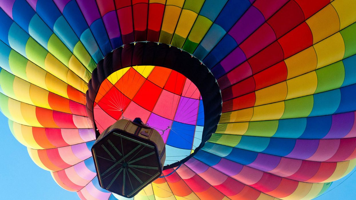 globo aerostatico colores wallpaper