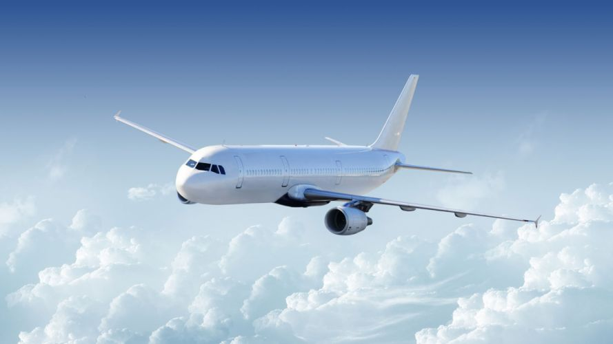 avion comercial nubes wallpaper