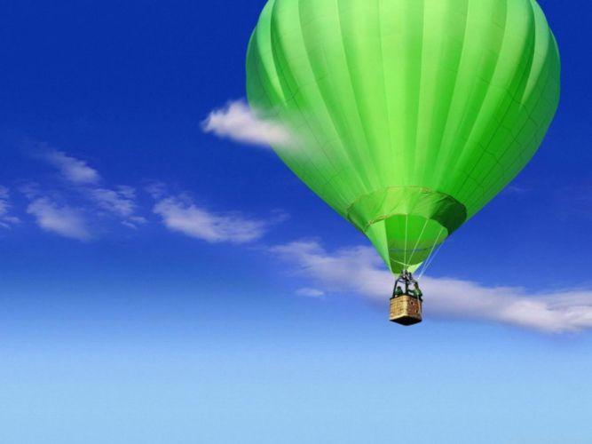 globo aerostatico verde wallpaper