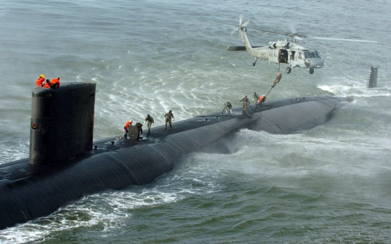 submarino helicoptero rescate mar wallpaper