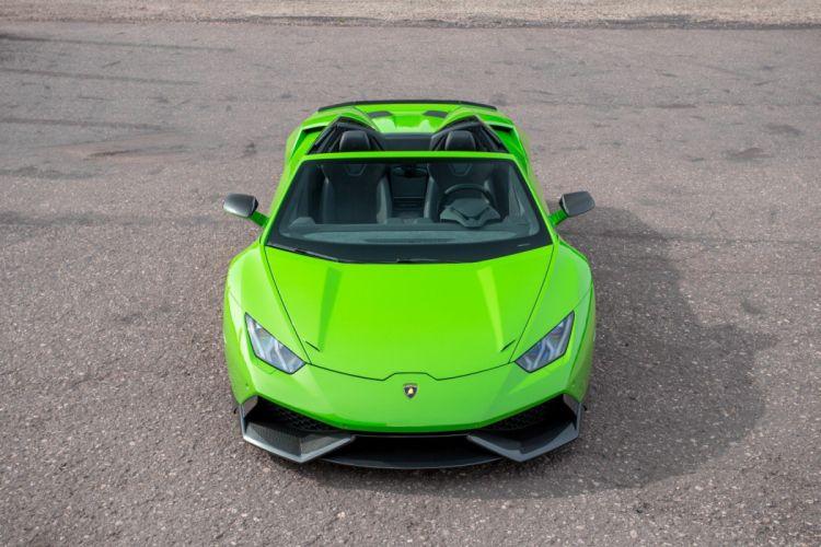 Novitec Torado Lamborghini Huracan LP 610-4 Spyder green cars modified 2016 wallpaper