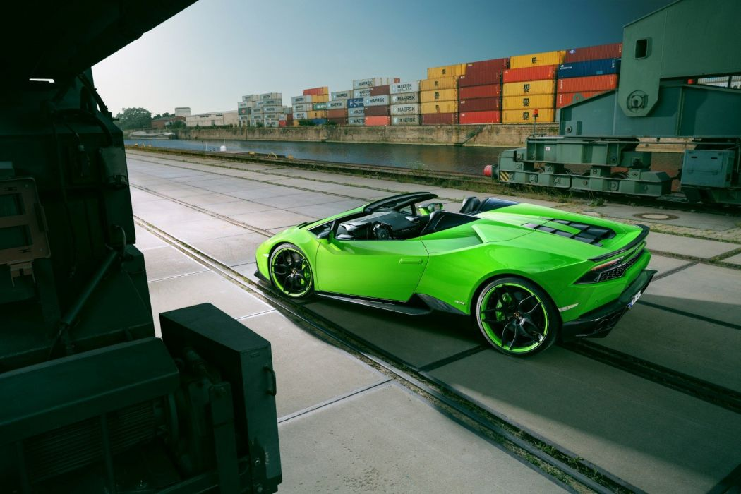 Novitec Torado Lamborghini Huracan LP 610-4 Spyder green cars modified 2016 wallpaper