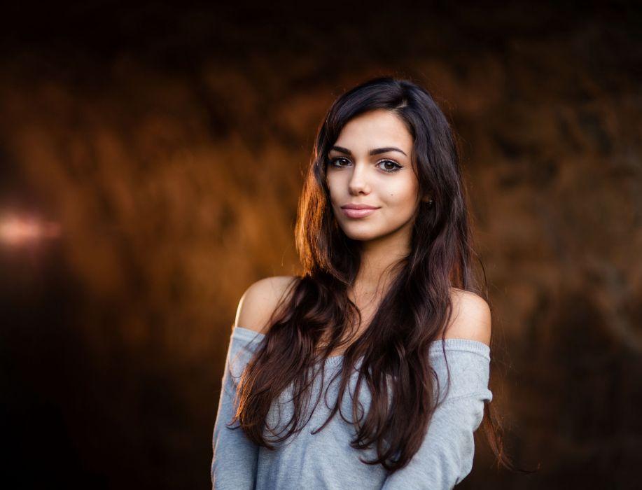 beautiful girl female women woman sexy babe model adult brunette j wallpaper