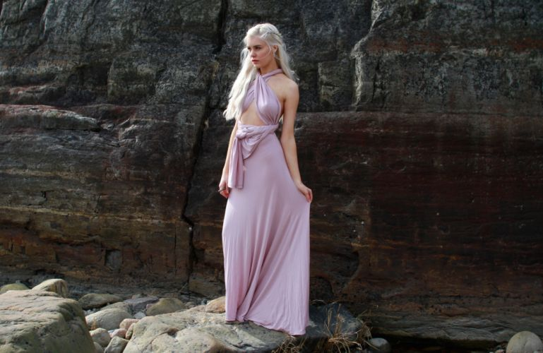 beautiful girl female women woman sexy babe model blonde cosplay game thrones f wallpaper