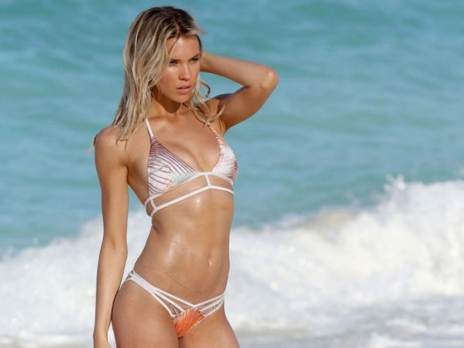 beautiful girl female women woman sexy babe model blonde bikini d wallpaper