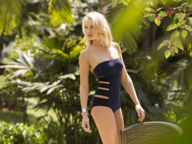 beautiful girl female women woman sexy babe model blonde bikini w wallpaper