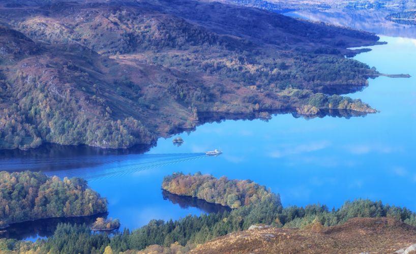Loch Katrine Trossachs Scotland wallpaper