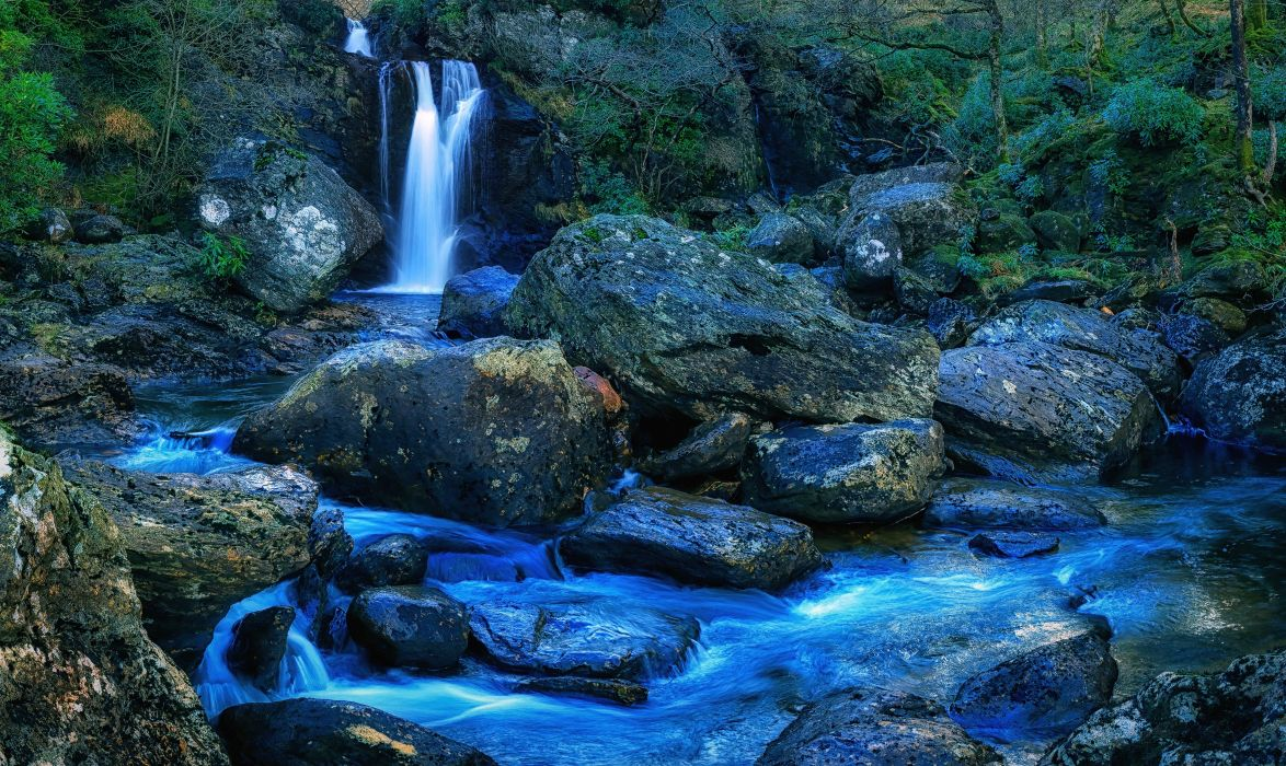 Loch Lomond and Trossachs National Park Scotland Waterfall Loch Lomond wallpaper