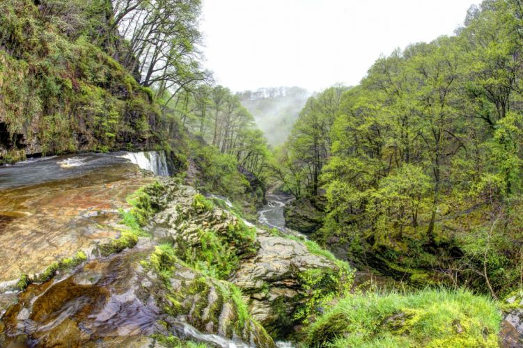 United Kingdom Forests Rivers Waterfalls South Wales Nature wallpapers wallpaper