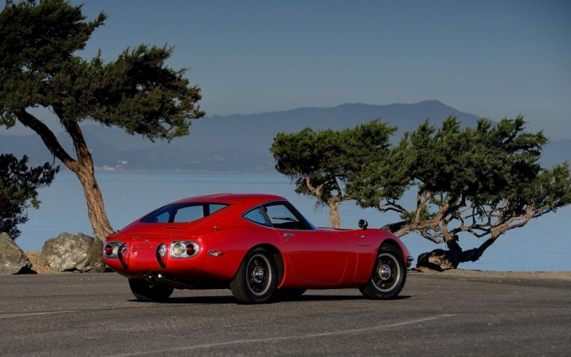 1967 Toyot 2000GT cars coupe red wallpaper