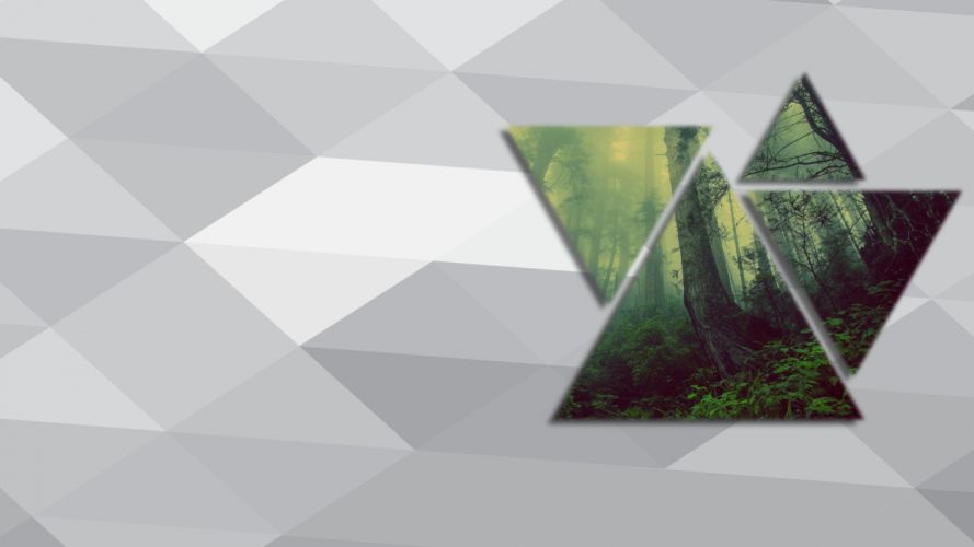 Triangle Abstract Digital Artwork forest wallpaper