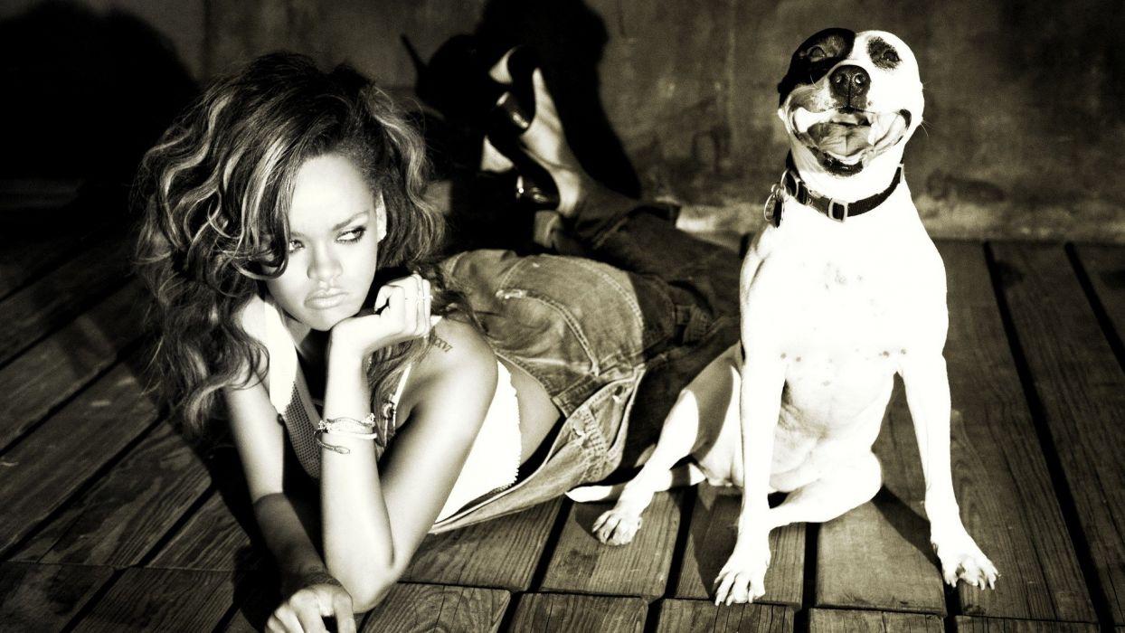 Rihanna Dog Brunette wallpaper