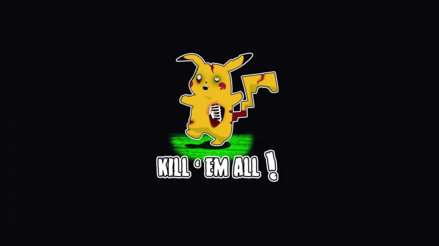 Pokemon Pikachu Black Zombie Humor wallpaper