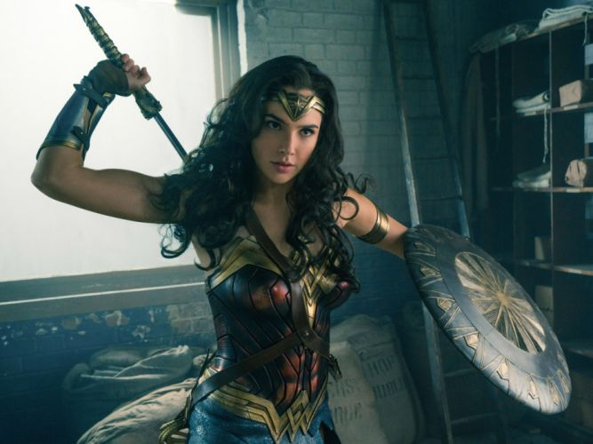 Wonder Woman DC Gal Gadot Shield Sword Movies justuce league d wallpaper