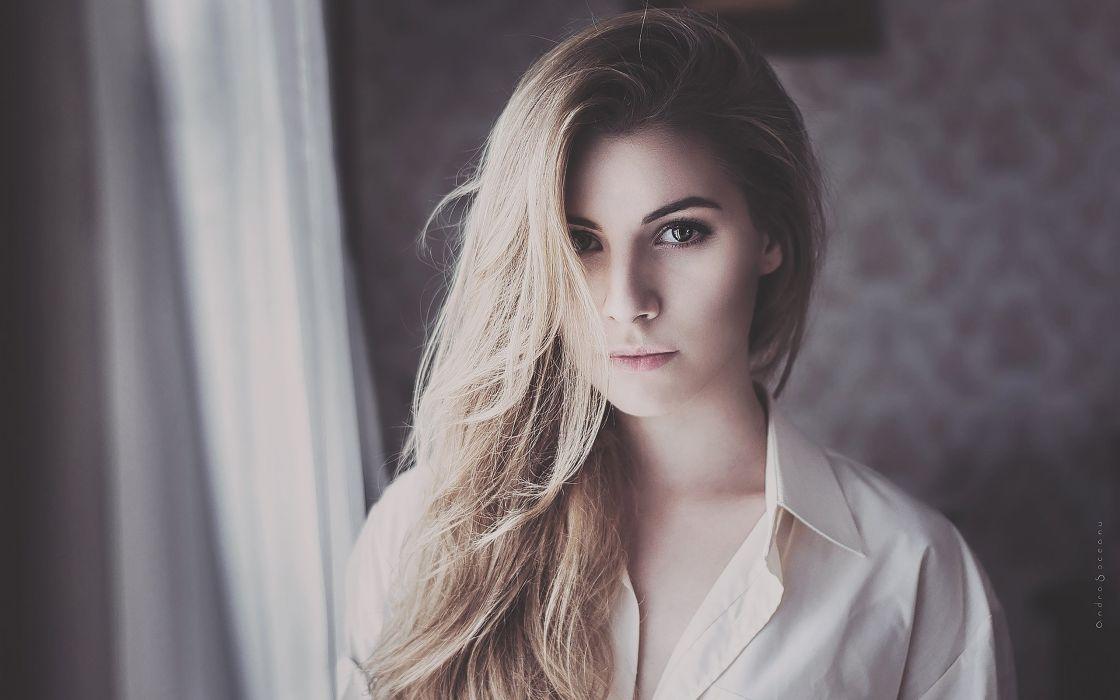 Blonde Face wallpaper Girls wallpaper