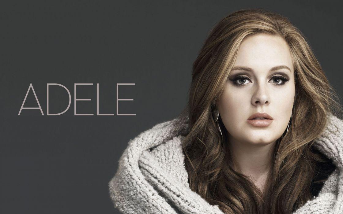 Adele cantante britanica morena wallpaper