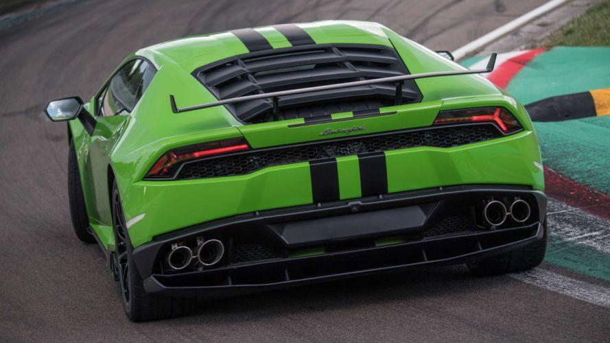 Lamborghini Huracan cars green wallpaper