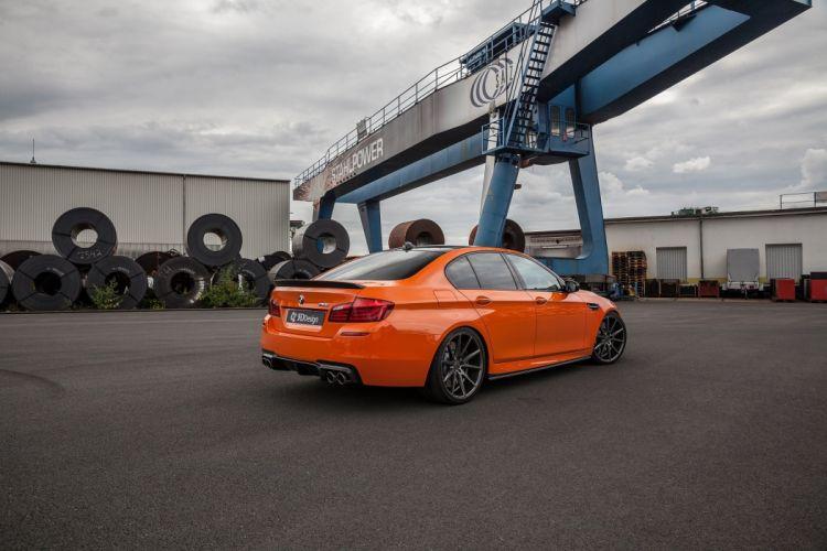 3D Design BMW M5 (F10) cars orange 2016 wallpaper