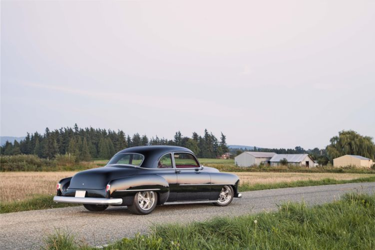 1952 Chevy Club Coupe cars black classic wallpaper