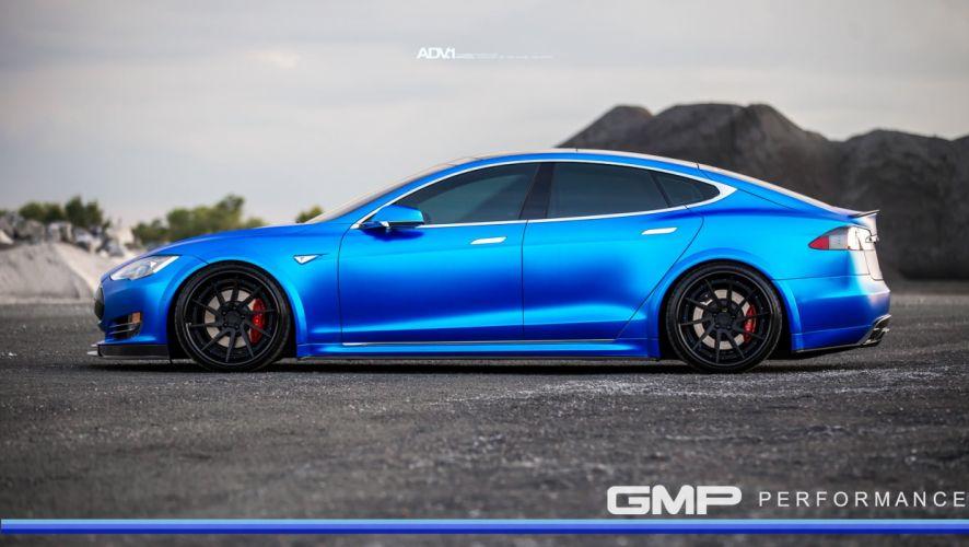 Blue tesla model-s p90d adv1 wheels wallpaper