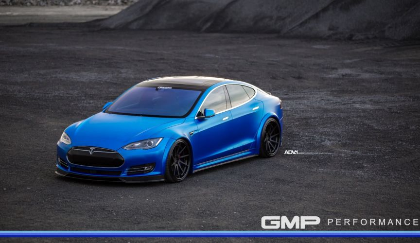 Blue tesla model-s p90d adv1 wheels wallpaper
