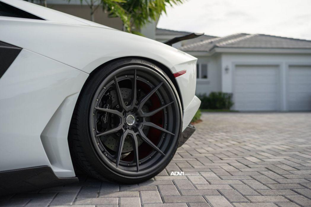 adv1 wheels Lamborghini Aventador LP700 cars supercars white wallpaper