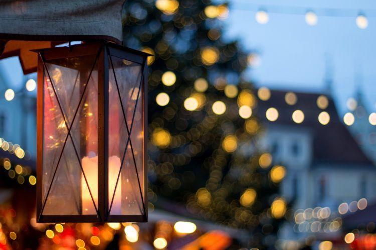 Christmas merry christmas bokeh magic christmas lantern city lights city lights xmas wallpaper