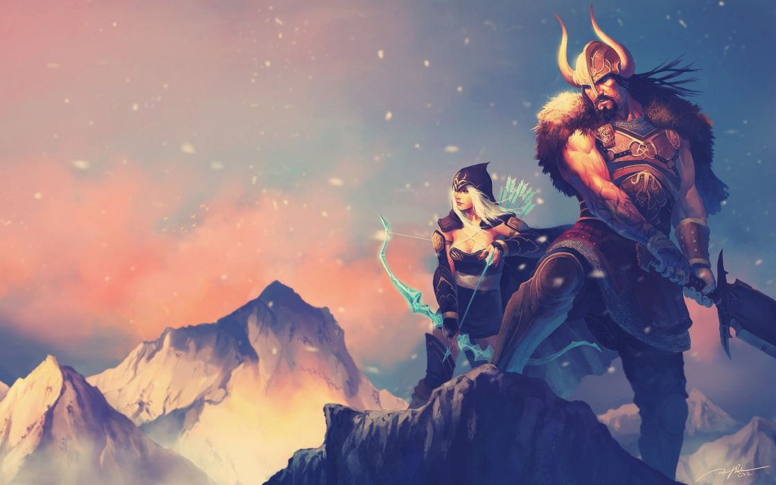 League of Legends tryndamere Ashe the Frost Archer game wallpaper