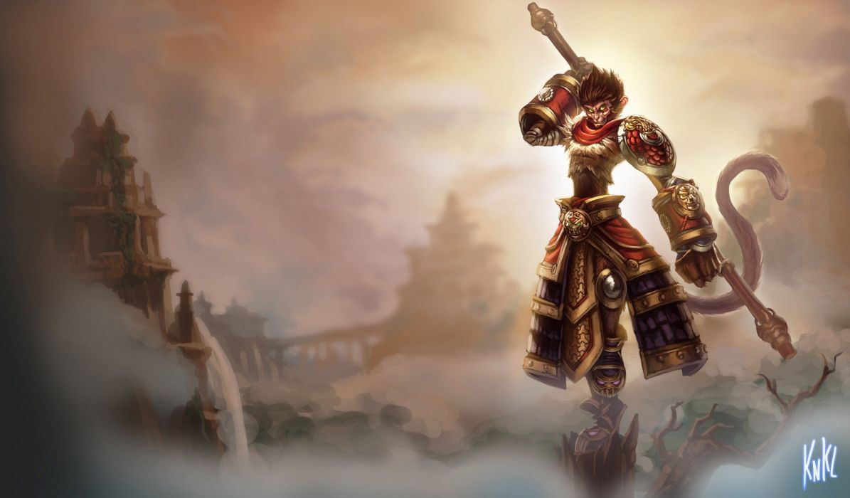 paintings video games League of Legends Riot Games Wukong wallpaper