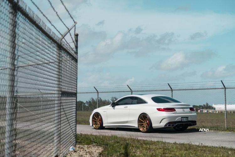 WHITE MERCEDES S-CLASS COUPE adv1 wheels cars wallpaper