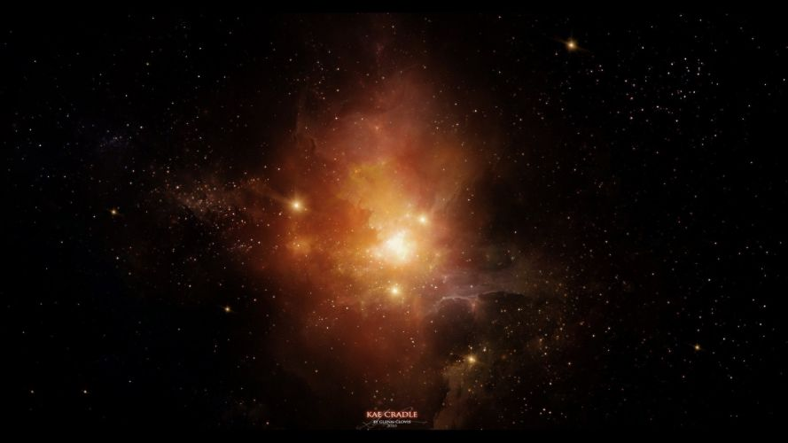 space nebula stars art wallpaper