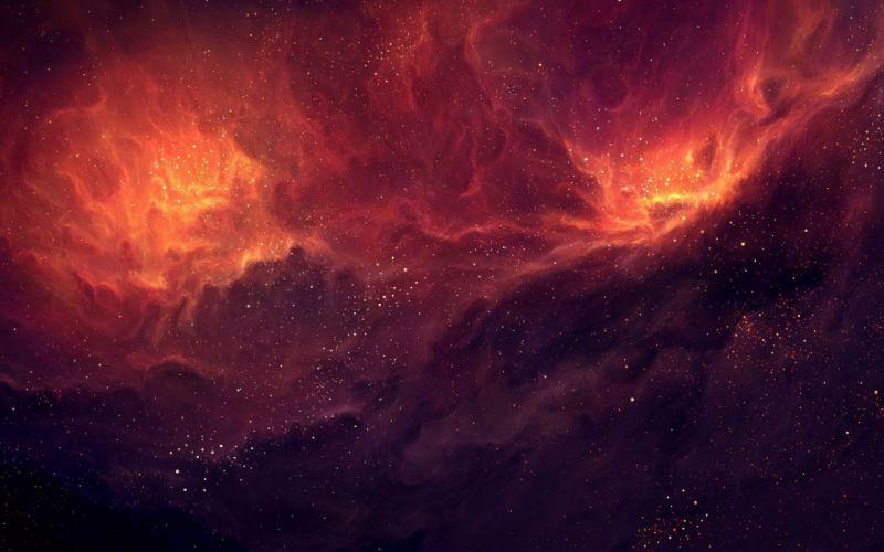 space stars nebula art wallpaper